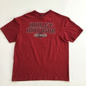 Harley Davidson Red Motorcycle biking T-shirt L